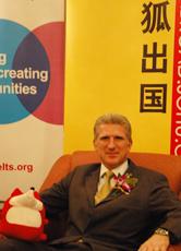 英国文化协会考试部中国业务总监 James Shipton
